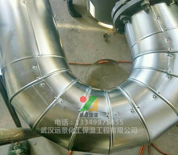 武汉铁皮保温之弯头铁皮保温施工细节